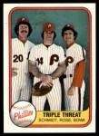 1981 Fleer #645 COR Pete Rose / Mike Schmidt / Larry Bowa  Front Thumbnail