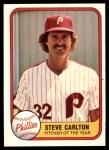 1981 Fleer #6 ERR Steve Carlton  Front Thumbnail