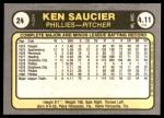 1981 Fleer #24 BCK Kevin Saucier  Back Thumbnail