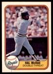 1981 Fleer #41 DRK Hal McRae  Front Thumbnail