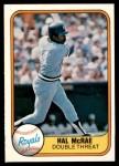 1981 Fleer #41 LHT Hal McRae  Front Thumbnail