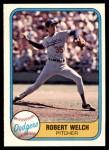 1981 Fleer #120 Rob Bob Welch  Front Thumbnail