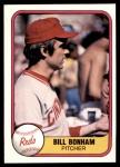 1981 Fleer #215 xHAND Bill Bonham  Front Thumbnail