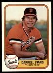 1981 Fleer #436 COR Darrell Evans  Front Thumbnail