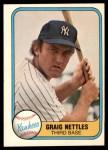 1981 Fleer #87 ERR Graig Nettles  Front Thumbnail