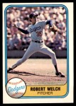 1981 Fleer #120 Bob Bob Welch  Front Thumbnail