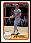 1981 Fleer #5   -  Mike Schmidt MVP Front Thumbnail