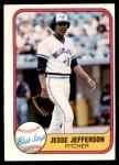 1981 Fleer #419 A Jesse Jefferson  Front Thumbnail