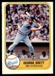 1981 Fleer #655 ERR George Brett  Front Thumbnail
