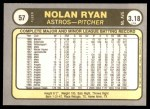 1981 Fleer #57  Nolan Ryan  Back Thumbnail