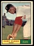 1961 Topps #438  Curt Flood  Front Thumbnail