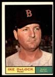 1961 Topps #268 COR Ike Delock  Front Thumbnail