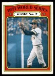 1972 O-Pee-Chee #229   -  Steve Blass 1971 World Series - Game #7 Front Thumbnail