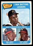 1965 O-Pee-Chee #2   -  Hank Aaron / Rico Carty / Roberto Clemente NL Batting Leaders Front Thumbnail