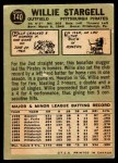 1967 O-Pee-Chee #140  Willie Stargell  Back Thumbnail