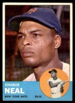 1963 Topps #511  Charlie Neal  Front Thumbnail