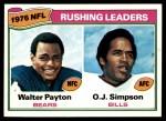 1977 Topps #3   -  Walter Payton / O.J. Simpson Rushing Leaders Front Thumbnail
