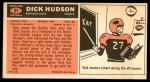 1965 Topps #31  Dick Hudson  Back Thumbnail