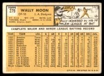 1963 Topps #279  Wally Moon  Back Thumbnail