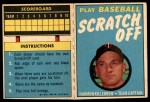 1971 Topps Scratch Offs #11  Harmon Killebrew   Front Thumbnail