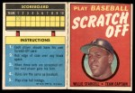 1971 Topps Scratch Offs #21  Willie Stargell      Front Thumbnail