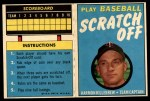 1970 Topps Scratch Offs #11  Harmon Killebrew     Front Thumbnail