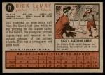1962 Topps #71  Dick LeMay  Back Thumbnail