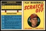 1970 Topps Scratch Offs #6  Dick Bosman    Front Thumbnail