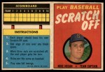 1970 Topps Scratch Offs #8  Mike Hegan  Front Thumbnail