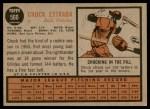 1962 Topps #560  Chuck Estrada  Back Thumbnail