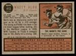 1962 Topps #413  Matty Alou  Back Thumbnail
