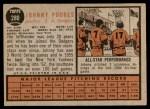1962 Topps #280  Johnny Podres  Back Thumbnail