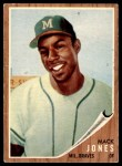 1962 Topps #186 GRN Mack Jones  Front Thumbnail