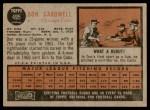 1962 Topps #495  Don Cardwell  Back Thumbnail