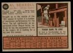 1962 Topps #102  Al Schroll  Back Thumbnail