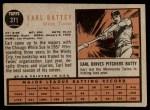 1962 Topps #371  Earl Battey  Back Thumbnail
