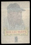 1966 Topps Rub Offs   Willie Mays   Back Thumbnail