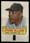 1966 Topps Rub Offs   Willie Mays   Front Thumbnail