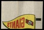 1966 Topps Rub Offs    San Francisco Giants Pennant Front Thumbnail