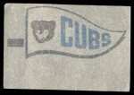 1966 Topps Rub Offs    Chicago Cubs Pennant Back Thumbnail
