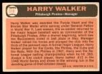 1966 Topps #318  Harry Walker  Back Thumbnail