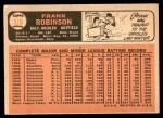 1966 Topps #310  Frank Robinson  Back Thumbnail