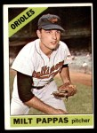 1966 Topps #105  Milt Pappas  Front Thumbnail