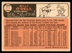 1966 Topps #237  Billy O'Dell  Back Thumbnail