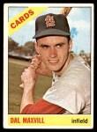 1966 Topps #338  Dal Maxvill  Front Thumbnail