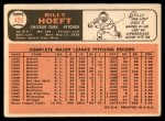 1966 Topps #409  Billy Hoeft  Back Thumbnail