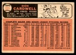 1966 Topps #235  Don Cardwell  Back Thumbnail