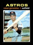 1971 Topps #447  Cesar Geronimo  Front Thumbnail