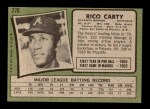 1971 Topps #270  Rico Carty  Back Thumbnail