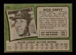 1971 Topps #270  Rico Carty  Back Thumbnail